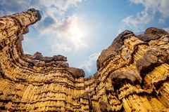 Pha Cho, Pha Cho is high soil canyon cliffs at Mae Wang National parks in Chiang Mai,Thailand. Amazing Thailand Royalty Free Stock Images