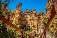 Pha Chor kanjon av Chiangmai Thailand Royaltyfria Bilder