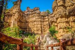 Pha Chor kanjon av Chiangmai Thailand Royaltyfri Bild