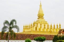 Pha dat Luang of Grote Stupa het Één Aantrekkelijke Oriëntatiepunt van Vientiane, Laos zijn royalty-vrije stock afbeeldingen
