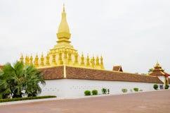 Pha dat Luang of Grote Stupa het Één Aantrekkelijke Oriëntatiepunt van Vientiane, Laos zijn stock afbeeldingen