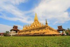 Pha den Luang (den Luang Stupa), Vientiane, Laos Arkivfoton