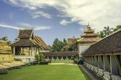 Pha den Luang i Laos Fotografering för Bildbyråer