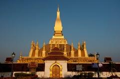 Pha den Luang stora Stupa i Vientiane Laos Fotografering för Bildbyråer