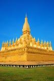 Pha den Luang stupa Fotografering för Bildbyråer