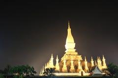 Pha den Luang tempel på Vientiane Royaltyfri Foto