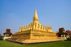 Pha die tempel Luang in Vientiane Stock Fotografie
