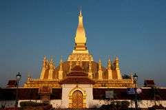 Pha dieses Luang großes Stupa in Vientiane Laos Stockbild