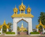 Pha dieses Luang - Haupttor Stockbild