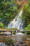 Pha Dok Siew Waterfall beautiful waterfall in deep forest in Chiang mai Stock Image