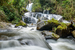 Pha dok siew waterfall in Chiang mai Thailand Royalty Free Stock Image