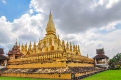 Pha Że Luang stupa jest symbolem miasto Vientiane, Obrazy Stock