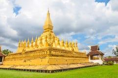 Pha Że Luang stupa jest symbolem miasto Vientiane, Fotografia Royalty Free