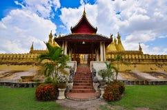 Pha ese Luang Laos Fotos de archivo