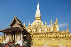 Pha Który Luang złota stupa w Vientiane, Laos Fotografia Royalty Free