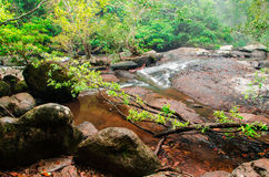 Pha Kuay Mai-vattenfall royaltyfri foto