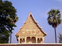 Pha Luang寺庙,万象,老挝 免版税库存图片