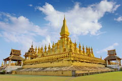 Pha That Luang in bright sky day. Vientiane, Laos Royalty Free Stock Photography