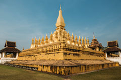 Pha That Luang. The gloden pagoda in Luang Prabang. Laos Stock Images