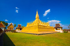 Pha That Luang, the golden stupa on the outskirts of Vientiane, Stock Photos