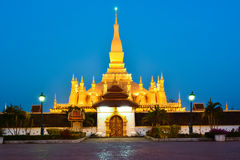 Pha That Luang, Great Stupa in Vientine, Laos Stock Photo