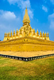 Pha That Luang, Laos. Stock Photos
