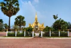 Pha That Luang, Laos. Royalty Free Stock Photo