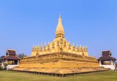 Pha that luang pagoda landmark of vientiane,laos. Stock Image