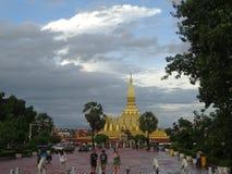 Pha Luang stupa在万象,老挝 库存照片