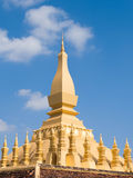 Pha Luang stupa在万象,老挝 免版税库存照片