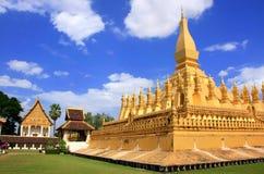 Pha Luang stupa,万象,老挝 免版税库存照片