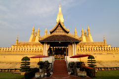Pha That Luang stupa Stock Photography