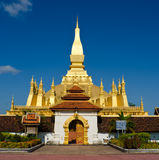 Pha That Luang stupa in  Vientiane, Laos. Royalty Free Stock Image
