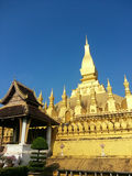 Pha That Luang stupa in Vientiane, Laos Stock Images