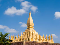 Pha That Luang Stupa in Vientiane, Laos Stock Photos