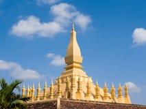 Pha That Luang Stupa in Vientiane, Laos stock photos