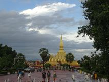 Pha That Luang stupa in Vientiane, Laos. The most important national monument in Laos stock photo