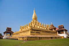 Pha That Luang stupa in Vientiane Laos Stock Photography