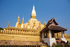 Pha That Luang stupa in Vientiane  Laos Stock Image
