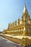 Pha That Luang Temple Stock Photos