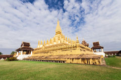 Pha That Luang temple Royalty Free Stock Photo