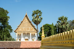 Pha-That-Luang temple Royalty Free Stock Images