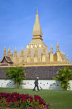 Pha That Luang Temple, Vientiane Stock Image
