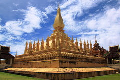 Pha That Luang temple in Vientiane, Laos Royalty Free Stock Photography