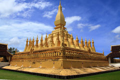 Pha That Luang temple in Vientiane, Laos Stock Photos