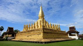 Pha That Luang temple Royalty Free Stock Images