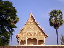 Pha That Luang temple, Vientiane, LAOS Royalty Free Stock Image