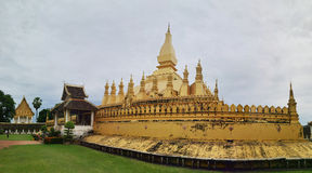 Pha That Luang temple in Vientiane, Laos Royalty Free Stock Images