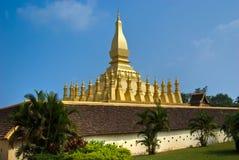 Pha That luang, Vientiaine, Laos. Stock Photos