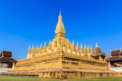Pha That Luang, Vientiane, Laos. Royalty Free Stock Image
